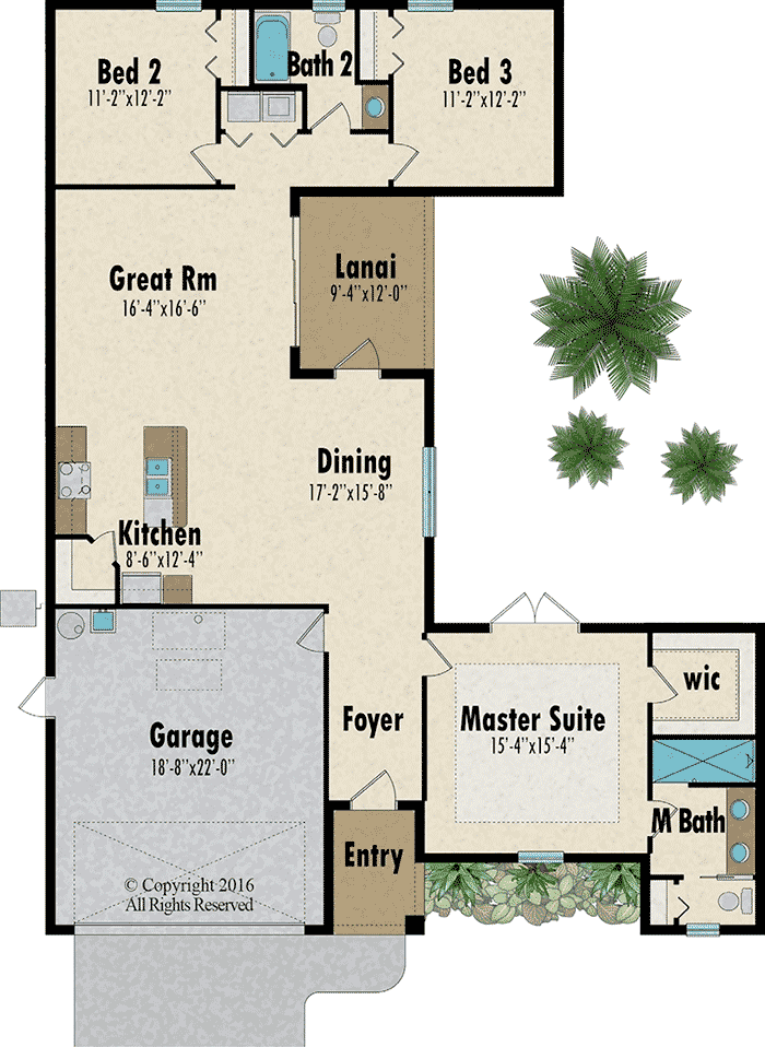 The Courtyard floorplan - Capitol Homes