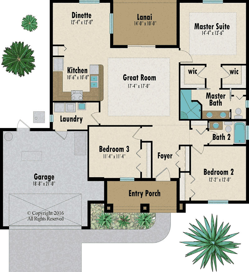 The Magnolia floorplan - Capitol Homes