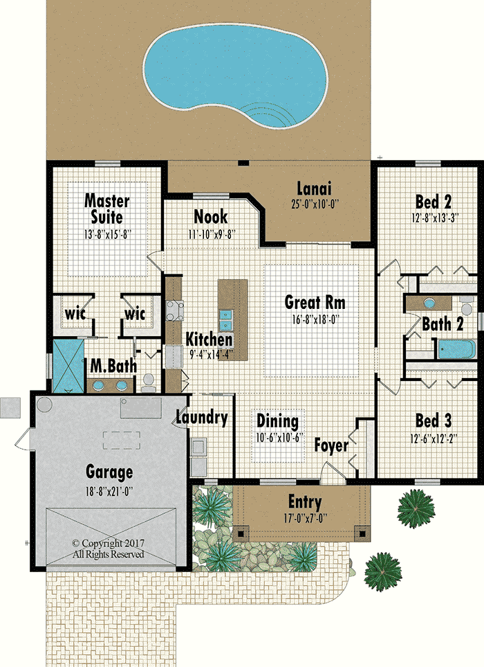 The Manasota floorplan - Capitol Homes