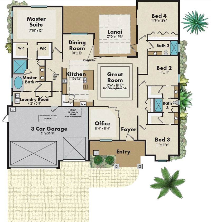 The Sabal Palm Deluxe Floorplan - Capitol Homes