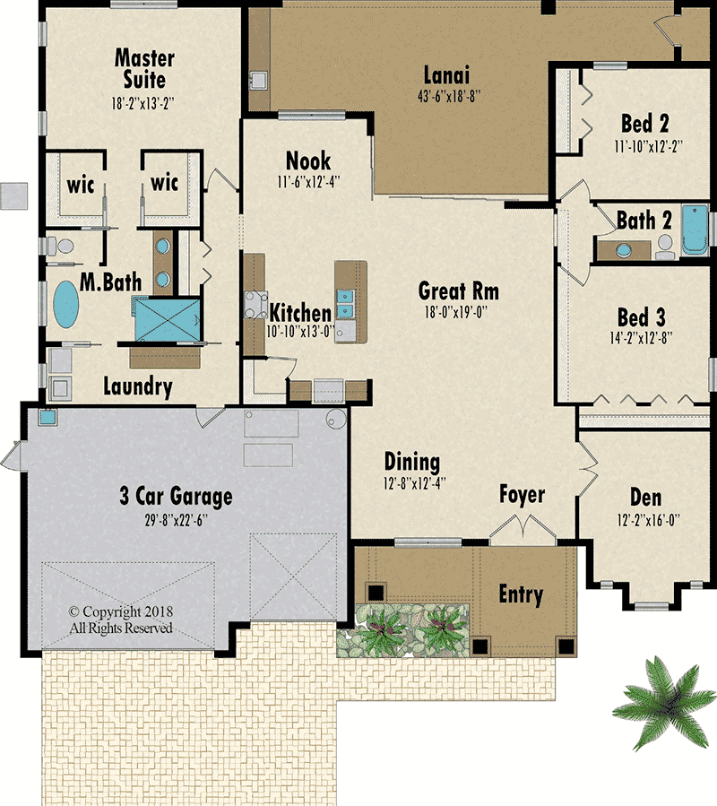 The Sabal Palm floorplan - Capitol Homes