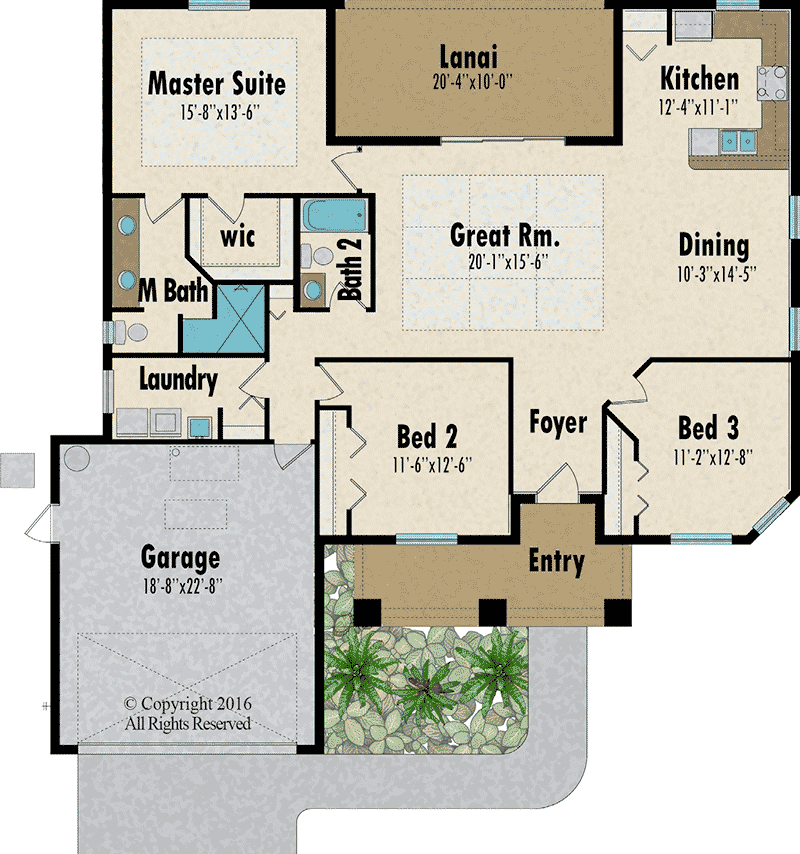 The Seagrape 2 floorplan - Capitol Homes