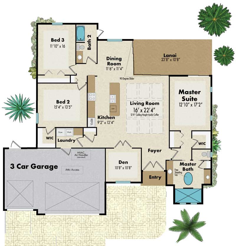 silver palm floorplan