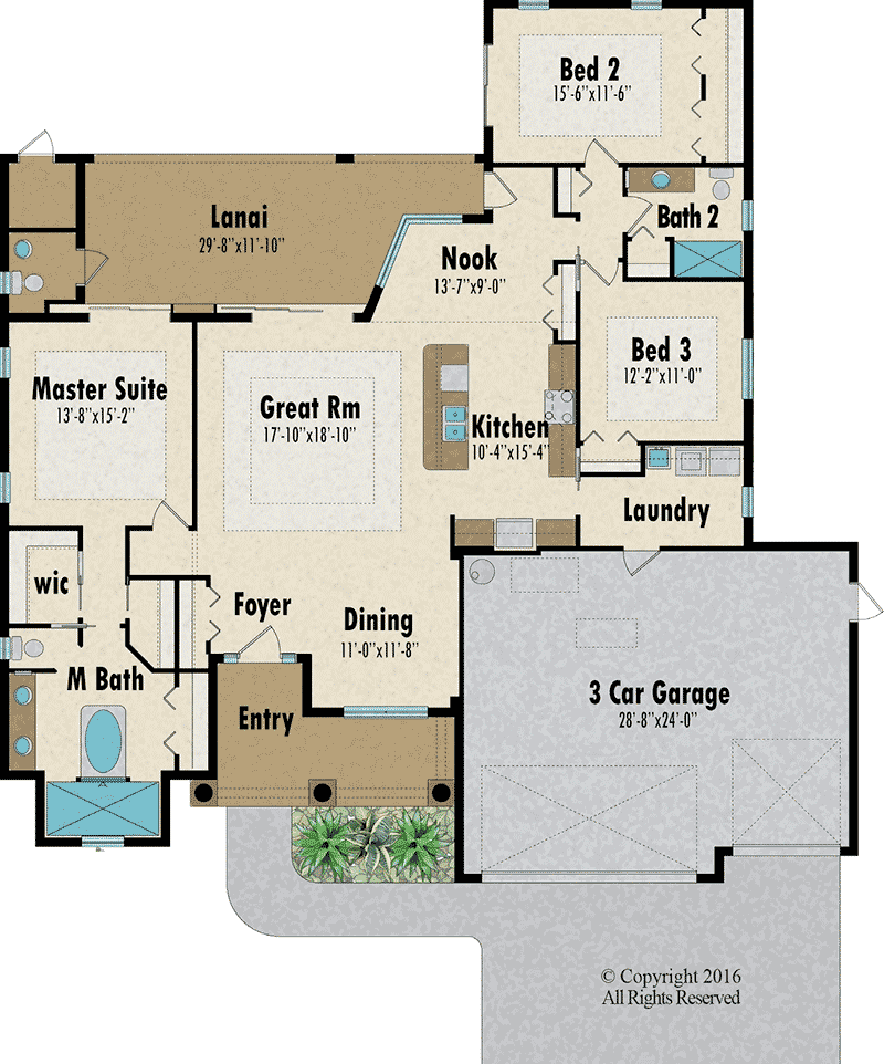 The Tamarind floorplan- Capitol Homes